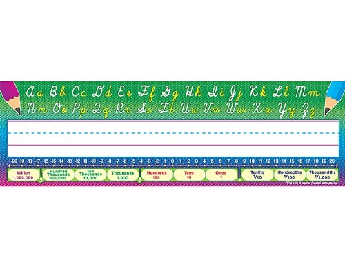 Modern Cursive Nameplate - Teacher Created Resources Flat Cursive Writing Name Plates (4308)