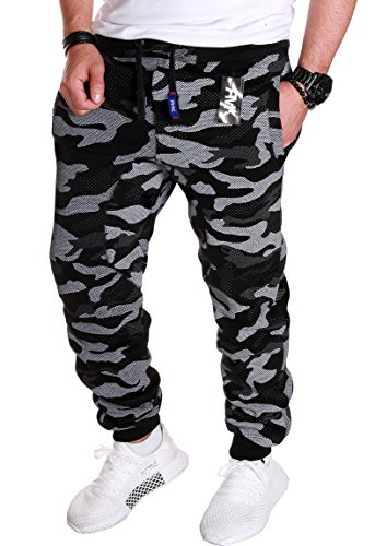 02 Camouflage Sportivi Pantaloni H Rmk schwarz Uomo 4wa1AnqY