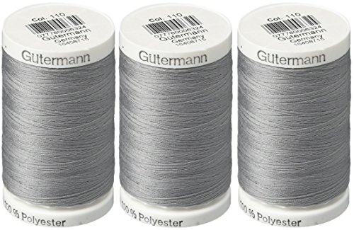 Gutermann Sew-All Thread, 547-Yard, Slate (3 Pack) by Gutermann