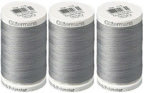 Gutermann Sew-All Thread, 547-Yard, Slate (3 Pack) from Gutermann