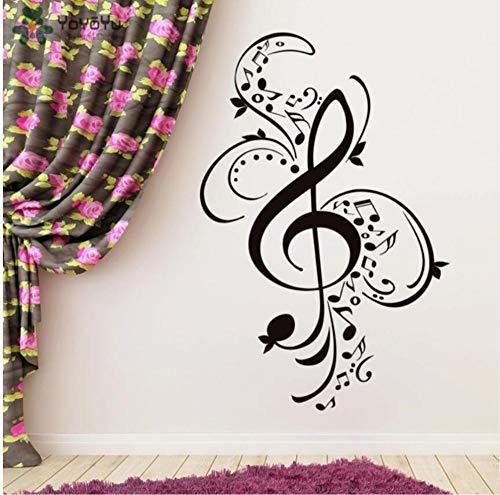 wsqyf Creativo Desmontable Música Clave De Sol Patrón Etiqueta De La Pared Hermoso Diseño Decoración del Hogar Escuela De...