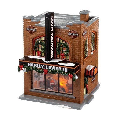 Department 56 ''Harley Davidson Snow Village'' Lighted Building #4020216