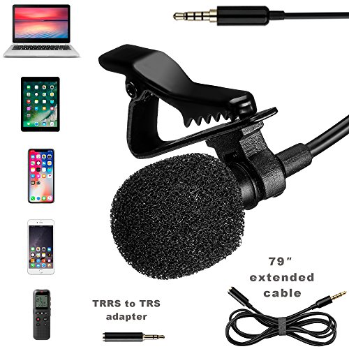 Lavalier Microphone - Professional Lapel Mic For Recording Interview, Podcast, Speech, Vlog, Video, Youtube - External Mic For IPhone, Android, Laptop - Pro Grade Lapel Microphone - Clip On Microphone by SoundsEnergy
