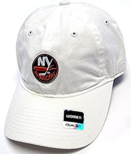 New York Islanders Women's White Basic Slouch Adjustable Hat ()