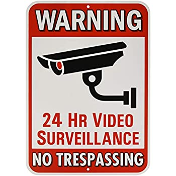 Amazon.com : Warning Security Cameras In Use Sign - 18x18 ...