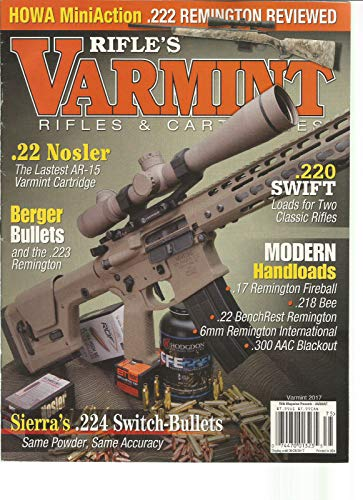 RIFLE'S VARMINT RIFLES & MAGAZINE AUGUST -