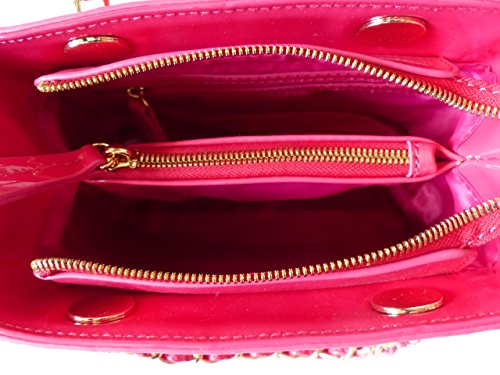 Valentino Tasche ICON VBS1GJ05VSTD Fuxia Damen Handtasche Schultertasche Umhängetasche Pink (18 x 15 x 7,5 cm)