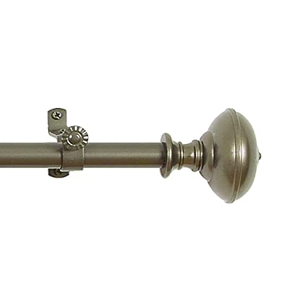 Achim Home Furnishings Buono II Othello Curtain Rod Finials 66 Inch To 120