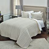 Rizzy Home QLTBT4011IVBE1692 Quilt, Ivory, King