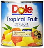 #9: Dole Canned Fruit, Mixed Tropical Fruit In Passion Fruit Nectar, 15.25 oz