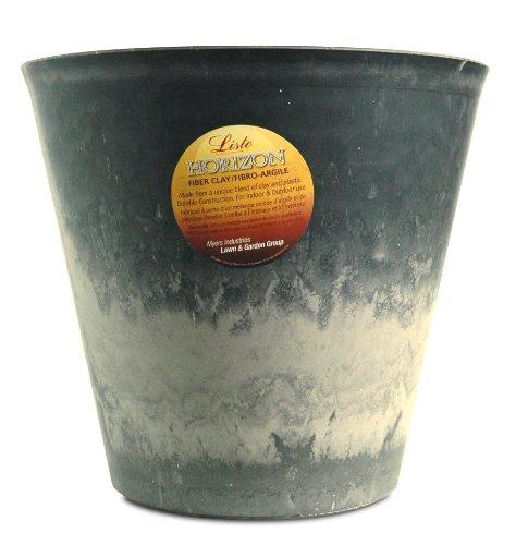 Listo Premium Horizon Fiber Clay Planter, 19-Inch, Black Stone ()