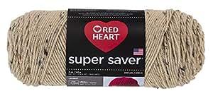 RED HEARTSuper Saver Yarn, Buff Fleck