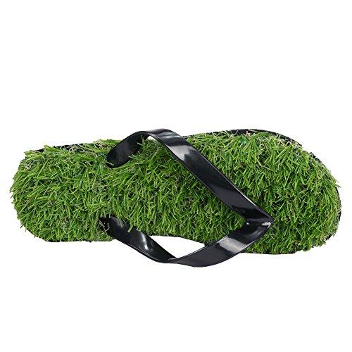 Flip Artificial Lawn Grass Casual Black Flop Summer for Men fereshte Sandals Women Xwq1gn4OE