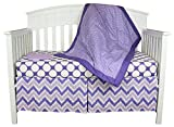 Best Bacati Baby Cribs - Purple and Lavender 4-in-1 100% Cotton Baby Crib Review