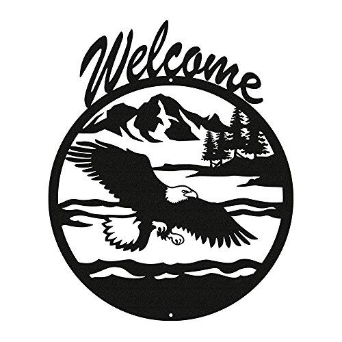 - EAGLE Black Metal Welcome Sign ~NEW~