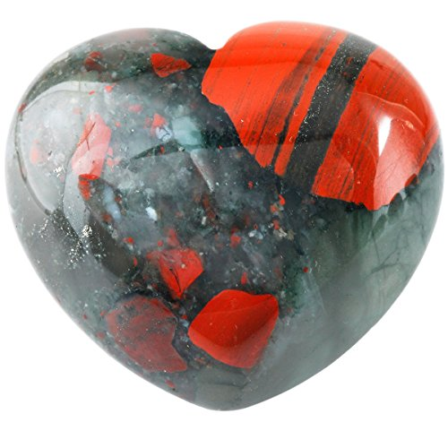 rockcloud Healing Crystal Africa Bloodstone Heart Love Carved Palm Worry Stone Chakra Reiki Balancing