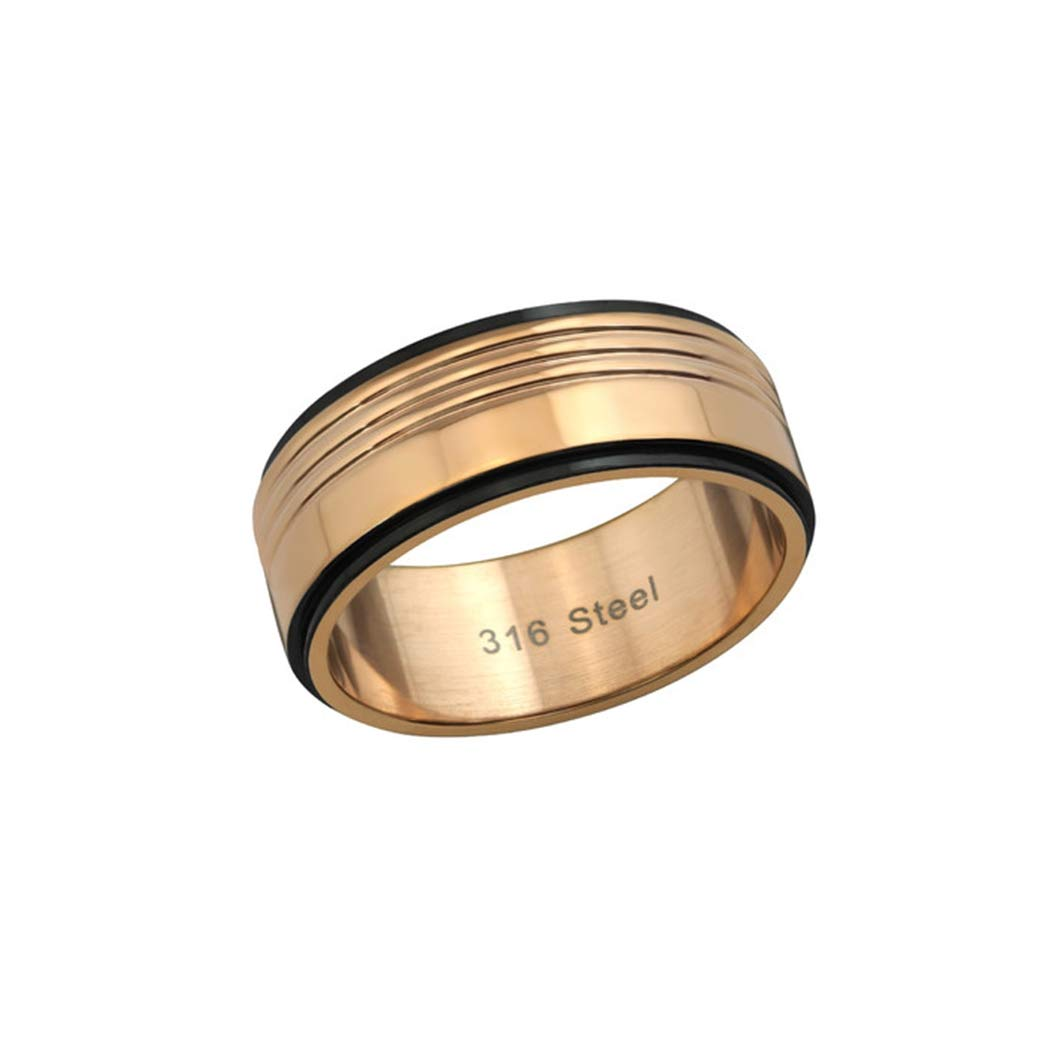 Liara Polished and Nickel Free Two Tone Rings 316L Surgical Grade Stainless Steel
