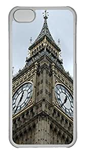 Customized iphone 5C PC Transparent Case - Bell Tower02 Cover