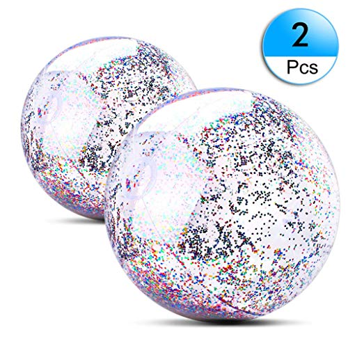 U_star 2 Pack Beach Ball 16 inch 24 inch Beach Balls Inflatable Water Ball for Parties Holidays Pool Water Toys ()