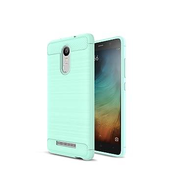 XiaoMi RedMi Note 3 Funda - Carbon fiber Soft Silicone Case Carcasa Funda para XiaoMi RedMi Note 3 - Verde