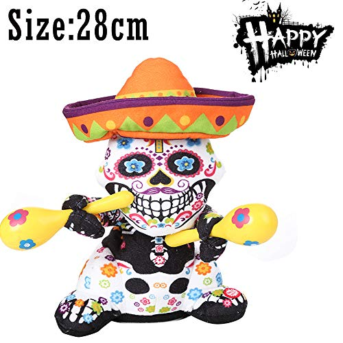 PSFS Halloween Stuffed Plush Toys |Halloween Party Decoration Ghost Nightmare Animated (B) -