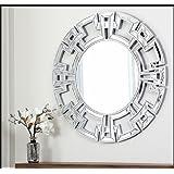 decorative wall mirrors white abbyson living pierre silver round wall mirror large decorative amazoncom abbyson zentro gold home kitchen