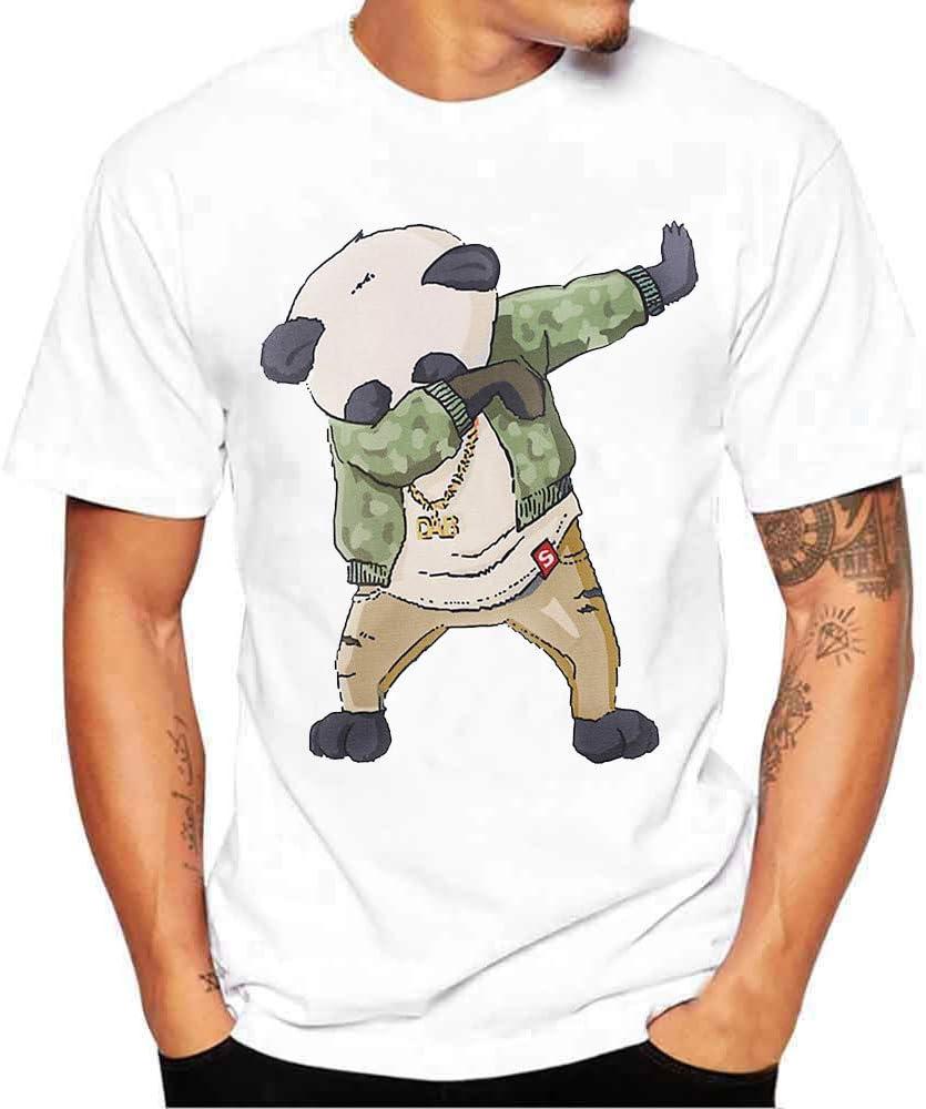 Camiseta de Manga Corta con Estampado de algodón de Manga Corta ...