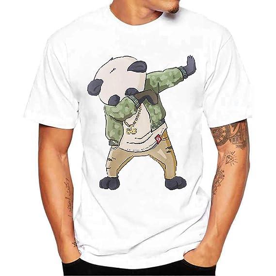 Camiseta de Manga Corta con Estampado de algodón de Manga Corta para Hombre por Internet