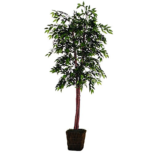 Vickerman 6' Artificial Green Smilax Deluxe set in Square Rattan ()