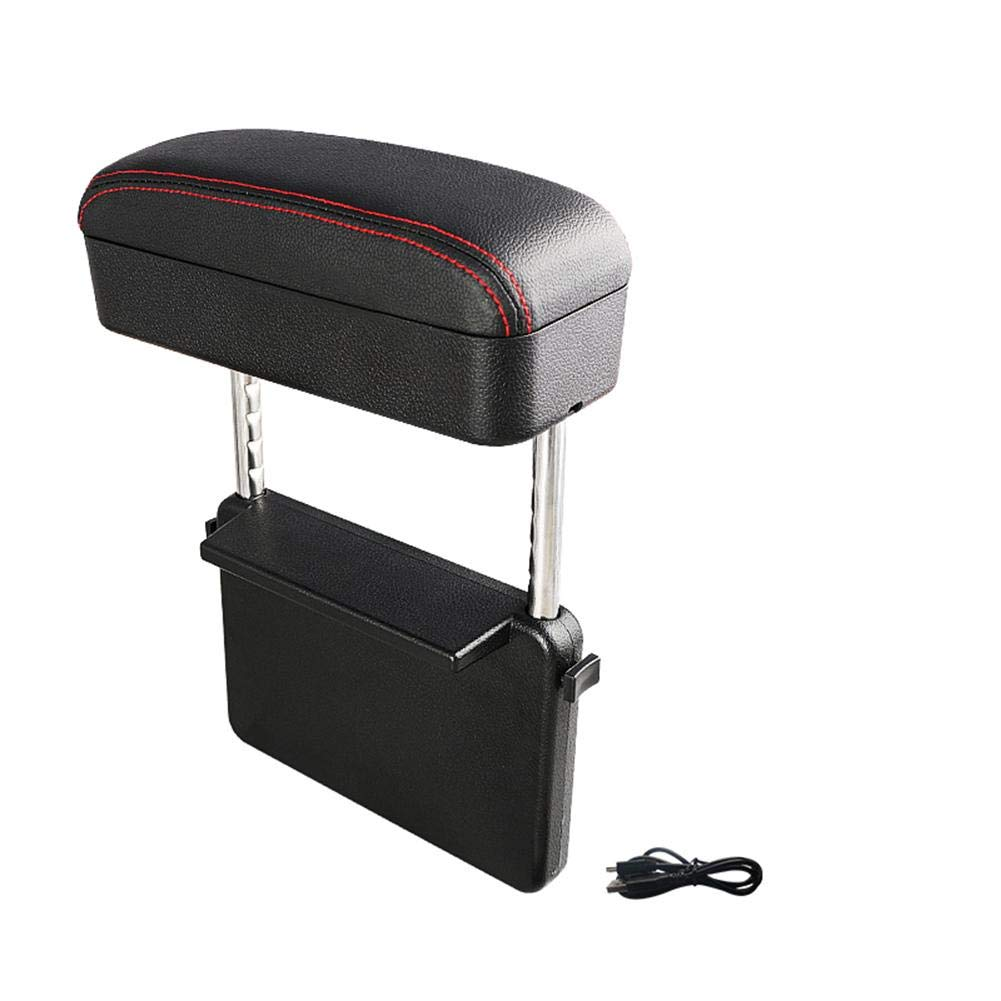Lorchwise Storage case,Car Armrest Box Pad Storage Boxes Storage Box and seat Slot Elbow Bracket car Console Side Storage Bag,Made of eco-Friendly Leather The armrest Box is Soft to The Touch