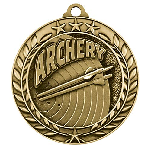 Express Medals Archery Gold 1st Place Medal with Neck Ribbon Award Trophy WAM9 (25) ()