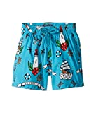 Vilebrequin Kids Baby Boy's Tattoo Sashimi Swim Trunk (Toddler/Little Kids/Big Kids) Blue Swimsuit Bottoms