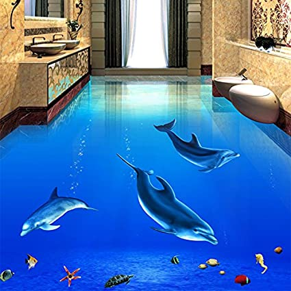 Amazon Com Lwcx Custom Any Size Mural Modern 3d Underwater World