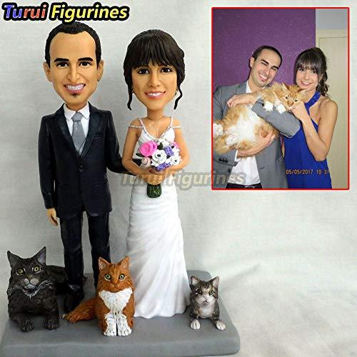 regalo personalizado OOAK para miembros de la familia presente negocio regalos real encantadoras personalizar muñeca arcilla...
