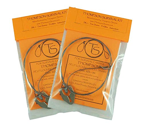 2-pack Thompson Snares SK-1 Survival Snare Kit - 4 Snares for Small Game!