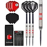 Red Dragon Phoenix: 25g Tungsten Steel Darts with Hardcore Flights, Shafts, Wallet & Red Dragon Checkout Card
