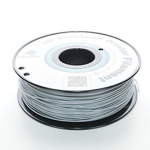 3D Solutech 3DSPLA175GRY Real Grey 3D Printer PLA Filament 1.75 mm Filament,