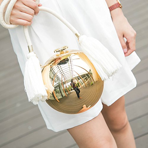 Purse Clutch Evening Bag Round Handbag Shoulder Ball qTwt5x5EW