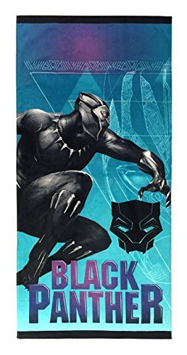 Marvel Black Panther Purple Haze Super Soft & Absorbent Kids Bath/Pool/Beach Towel, Featuring Black Panther - Fade Resistant Cotton Terry Towel, Measures 28 inch x 58 inch (Official Marvel Product)