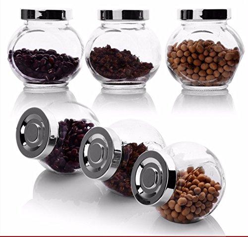 AISSION KITCHEN Storage Jar Container Aufbewahrungsboxen, Dichtung jar Spice Spice Spice jar Glas Cruet Pfefferstreuer gewürzdose Mutter am Kraftstofftank Korn-Lagerung-Flaschen, 3er Set B06XHWYFGT Seiher e8391f