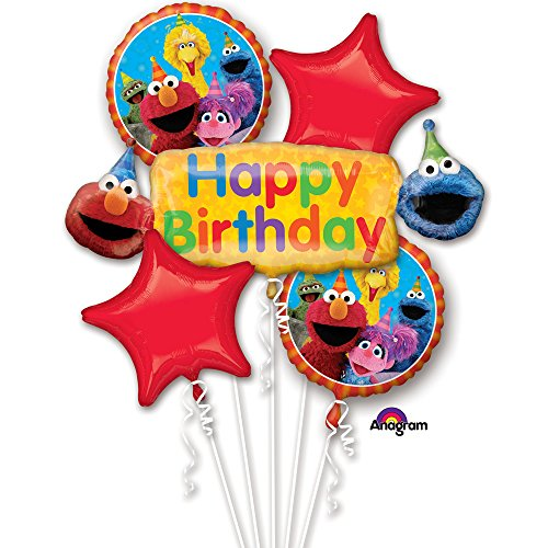 Balloon Sesame Street Balloons (Sesame Street Fun Birthday Bouquet Of Balloons)
