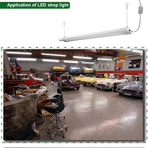 5000 Lumen 4000k Led Garage Shop Light Fixture Hanging: Hykolity 4ft 36 Watt Integrated LED Shop Light Hanging