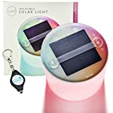 MPOWERD Color Essence Inflatable Solar Light - Multi-Color Light, Waterproof & Collabsible - Matte Finish Bundle with a Lumintrail Keychain Light