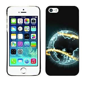 Caucho caso de Shell duro de la cubierta de accesorios de protección BY RAYDREAMMM - Apple iPhone 5 / 5S - Alien Planet Universe Eternity Fire Symbol Art