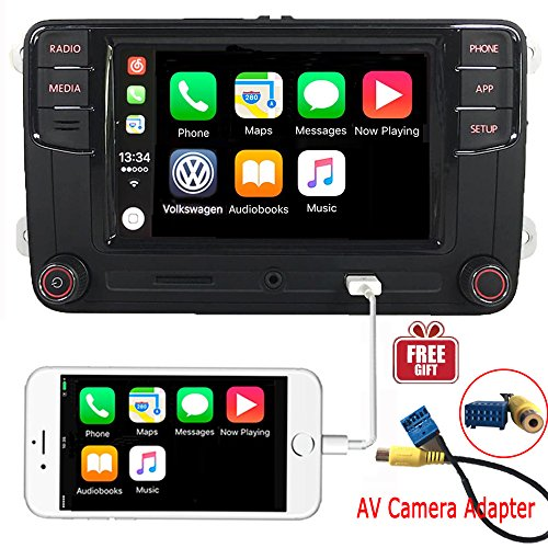 6.5 Car Stereo OEM MIB2 RCD330+Carplay Mirrorlink Build-in Bluetooth RVC Aux Input, Bluetooth, SD-Card, Touchscreen, Memory Card Input for VW TIGUAN PASSAT CADDY GOLF EOS PASSAT TOURAN
