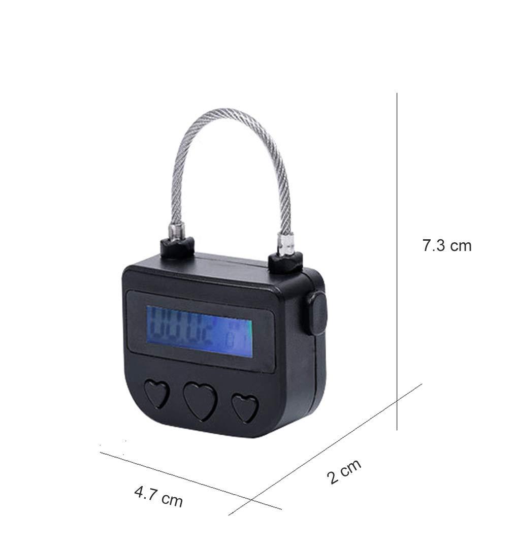 Black Time Lock Fetish Handcuffs Electronic Timer Bondage Lock