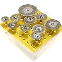 Luckgo 10pcs Diamond Cutting Discs Cut Off Wheel Set For Dremel Rotary Tool