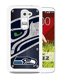 Seattle Seahawks 04 White Fashionable Design LG G2 Plastic Case