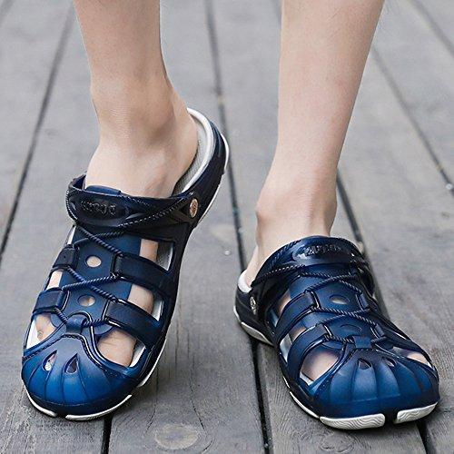 Pantoufles Respirable Couleur Taille extérieures Beatalvy de d'hommes 1 43 de de de Marche Noir Sandales Bain 3 EU Plage Jardin Bleu antidérapant 46n6drcF