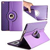 iPad Pro 9.7 inch Case,TechCode 360 Degrees Rotating Magnetic Stand Smart Screen Protective Case Cover for Apple iPad Pro 9.7 inch Tablet (iPad Pro 9.7, Purple)